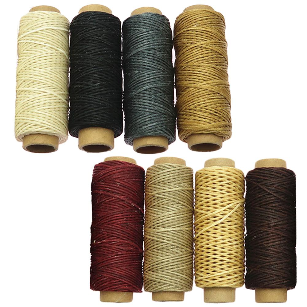 8 Rolls Waxed Thread Cord For Luggage Shoes Leather Repair 30m Assorted Colors 150D DIY Leather Craft Hand Sewing Waxed Threads