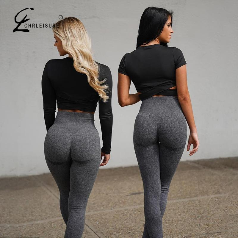 Women Legging Fitness Push Up Legging Solid High Waist Workout Leggins Mujer 2020 New Gym Seamless Legins Women