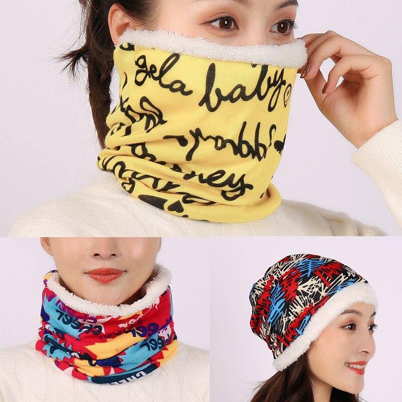 2020 Women Ring Neck Scarf Unisex Winter Snood Fur Collar Bandana for Lady Foulard Warm Female Warm Infinite Face Scarves|Women