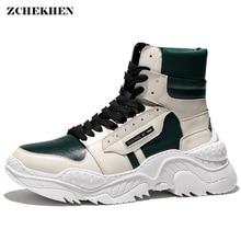 Fashion Men Sneakers High Top Casual Chunky Sneaker Shoes Lightweight Walking Male Tenis Masculino Footwear