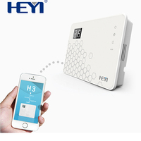 Multi languages GSM wireless fire/burglar/duress/ home security alarm system with PIR sensor