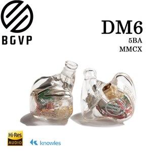 Image 1 - 2019 BGVP DM6 индивидуальный наушник аудиофиловые Hi Fi наушники контролировать сбалансированные арматурные наушники MMCX кабель IEM