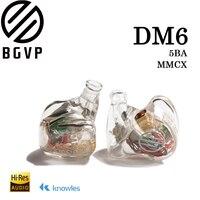 2019 BGVP DM6 auriculares personalizados Audiophile HiFi Monitor de auriculares dentro del oído equilibrado armadura auricular MMCX cable IEM