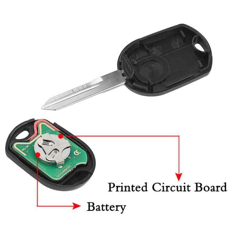 315 Mhz 4 Knoppen Ongecensureerd Remote Autosleutelzakje Shell OUCD6000022 Met ID63 Chip 80 Voor Ford Edge Escape Focus lincoln Mazda Mercury
