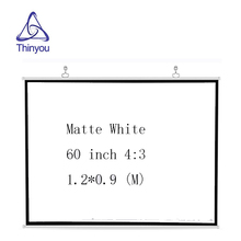 Thinyou wall Projection Screen 60 inches 4:3 Manual Pull Down Portable Rolling For 3D HD Cinema Office home