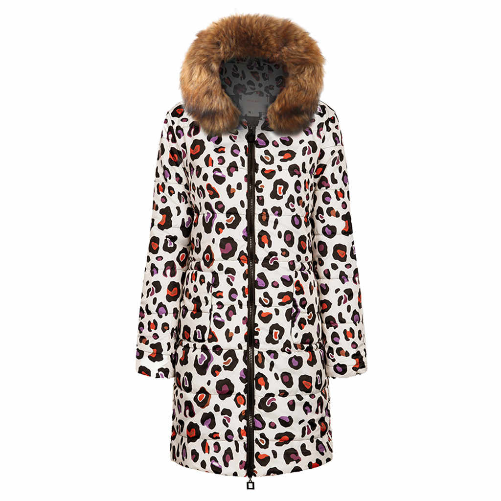 Женское зимнее пальто с принтом, длинное пуховое хлопковое Женское пальто с капюшоном, стеганая куртка, верхняя одежда, пальто для женщин 2019, длинная верхняя одежда