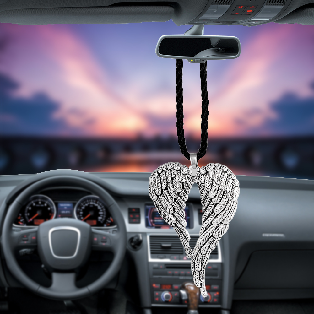 Car Pendant Gifts Lucky Angel Wing Rearview Mirror Decoration Auto Hanging Ornament Automobiles Interior Car Accessories styling