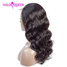 HALOQUEEN Body Wave Wigs Lace Front Human Hair