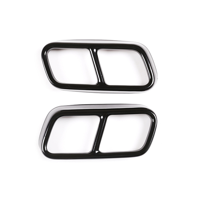 304 Stainless Steel Car Tail Muffler Exhaust Pipe Output Cover Trim For BMW 7 Series F01 2009-2014 Auto Exterior Accessories 4