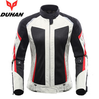 women DUHAN Summer Mesh Breathable Motorcycle Jacket wiReflective Motorbike Jackets of Oxford Cloth 600D and CE Protective gear