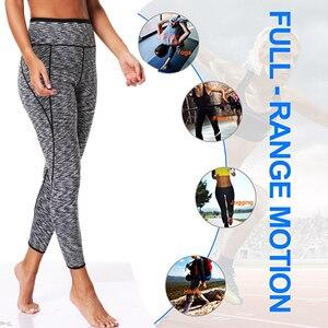 Image 5 - Lazawg 女性汗パンツウエストトレーナー熱ボディシェイパーワークアウトショートサウナ効果制御パンティー減量ズボン