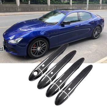 Carbon Fiber Outer Door Handle Cover Trim Decoration for Maserati Levante 2016 2017 2018 Ghibli 2014-2018 Quattroporte 2013-2017