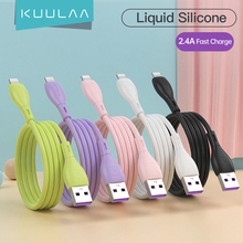 KUULAA Liquid Silicone Cable For iPhone 12 11 Pro Max X XR XS 8 7 6 6S 5 5S SE iPad Charging Charger Cord Wire For iPhone Cable