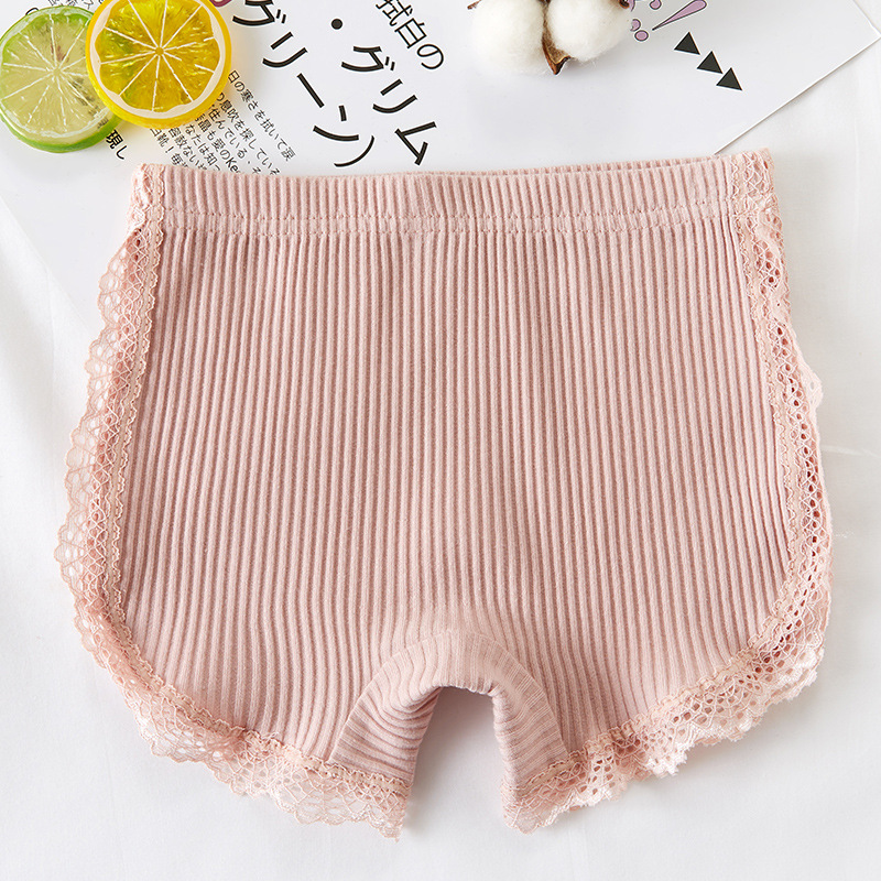 Image 4 - 100% Cotton 2020 New Girls Lace Shorts Top Quality Pink Girl Safety Pants Underwear Shorts Cute Briefs For Kids 3 13 Years OldShorts   -