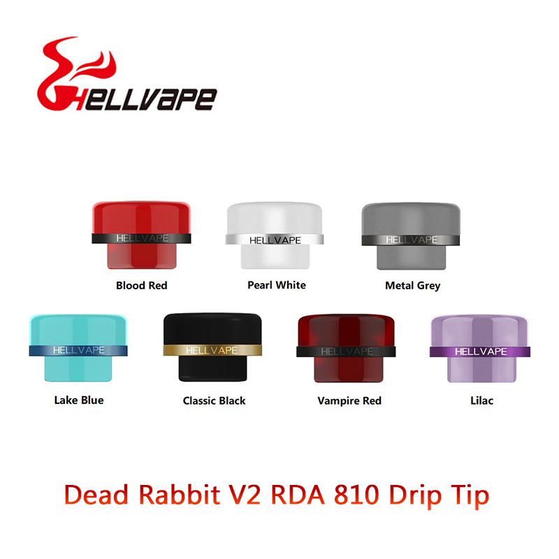 1pcs 810 Atomizer Drip Tip For Hellvape Dead Rabbit V2 RDA Tank Vape Mouthpiece E Cigarette Drip Tips