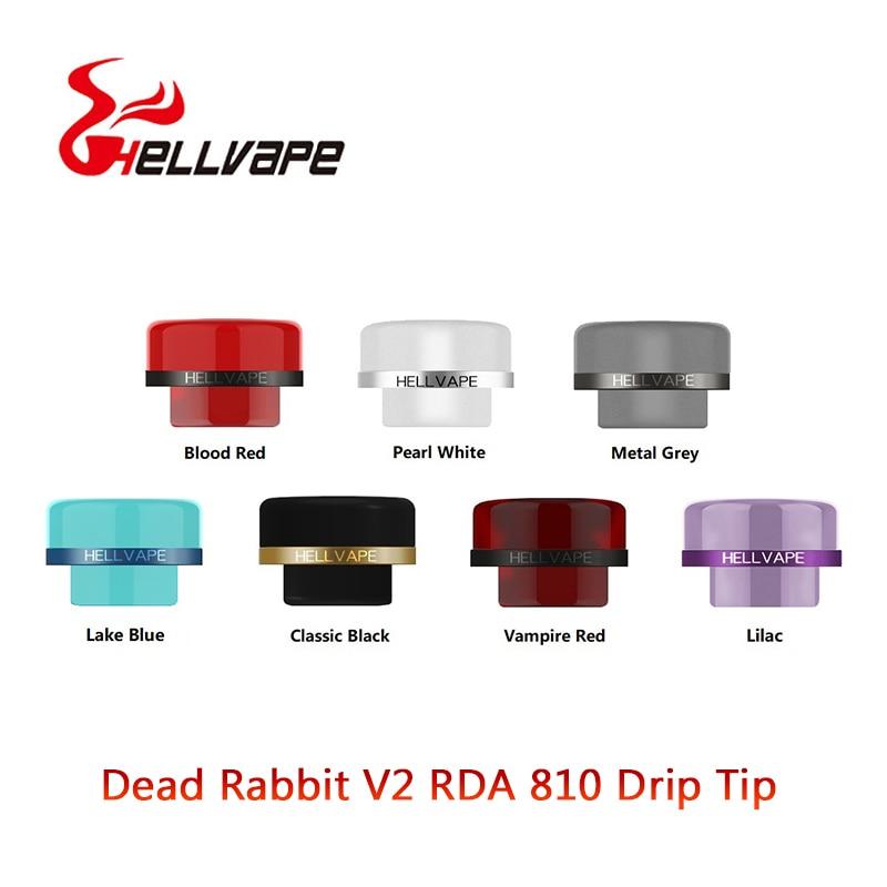 1pcs 810 Atomizer Drip Tip For Hellvape Dead Rabbit V2 RDA Tank Vape Mouthpiece E Cigarette Drip Tips