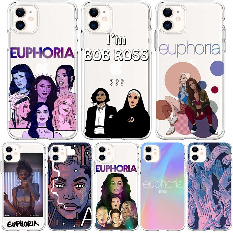 American TV Series Euphoria Soft Silicon Funda Phone Cover for iPhone 6 6S 7 8 Plus 5S X Xs XR 11 ProMax Capa Cases With Designs