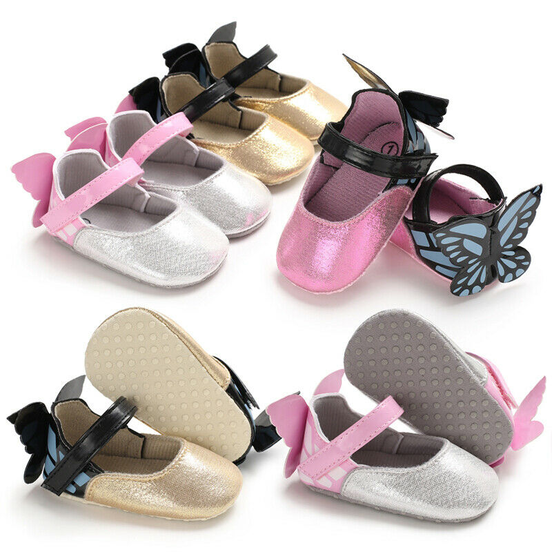 Pudcoco New Newborn Infant Kid Baby Girl Butterfly Shoes Cute Princess Shoes With Wings Fashion First Walkers 0-18M