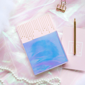 Kinbor Planner B6 Hand Account Book Storage Notebook Pink Girl DIary Notepad Square Inside Page Planner dirirab pink page 5
