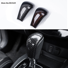 Car Gear Head Shift Knob Cover Gear Shift Collars Handbrake Grip Car Hand Brake Covers For Nissan X-trail Xtrail T32 2014-2019 стоимость