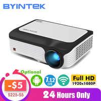 BYINTEK M1080 Smart (2GB + 16 GB) Android WIFI FULL HD 1080P przenośny mini projektor led 1920x1080 LCD wideo dla iphone'a dla Netflix