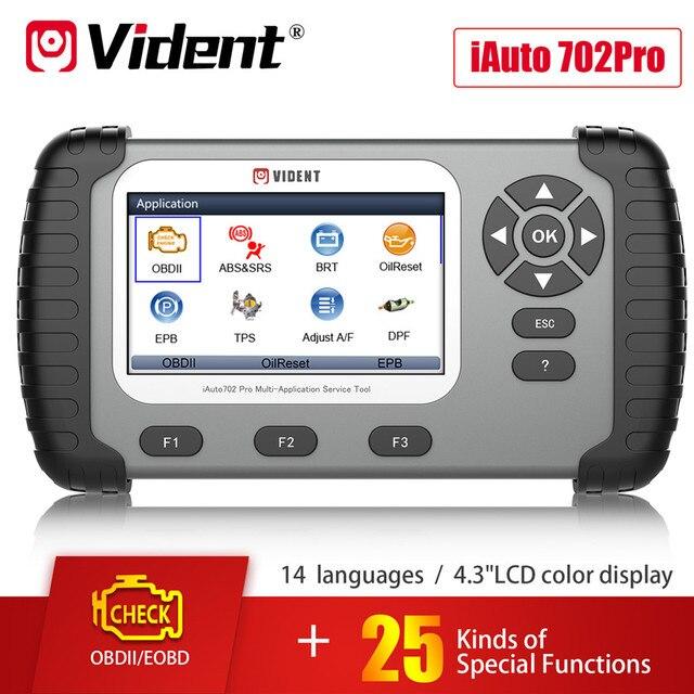 VIDENT iAuto 702 Pro Multi applicaton Service Tool Support ABS/SRS/EPB/DPF iAuto 702Pro 3 Years Free Update Online