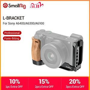 Image 1 - Smallrig L Beugel Plaat Met Houten Handvat Voor Sony A6400/A6300/A6100 Arca Swiss Standaard L plaat Montageplaat 2331