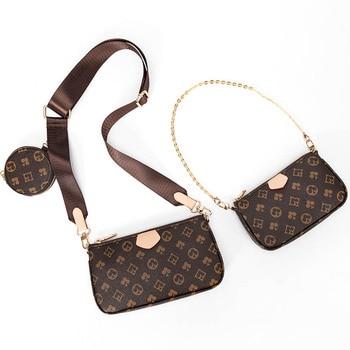 Famous Brand Designer 3-IN-1 Messenger Bag Satchel Leather Floar Crossbody Bag Handbag Tote Clutch New Shoulder Bag Classic Hobo