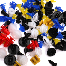 100PCS Mixed Auto Bumper Fastener Vehicle Clips Retainer Fastener Rivet Door Panel Fender Liner Universal Fit for  toyota Honda