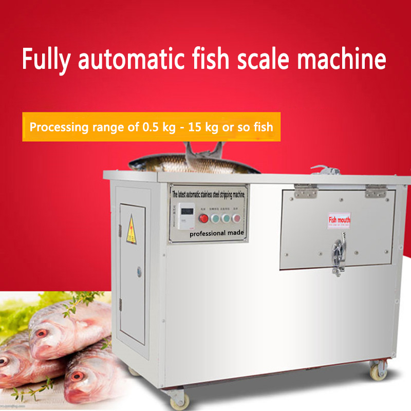 XZ-610 Type Automatic Remove Fish Scale Machine Electric Scraping Scale Machine Commercial Stainless Steel Planing Scraper 220V
