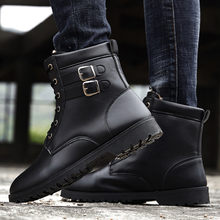 England Winter Men Boots Vintage Ankle Boots Men Winter Work Shoes Men Plus Boots for Men Botas Desert Chelsea(China)