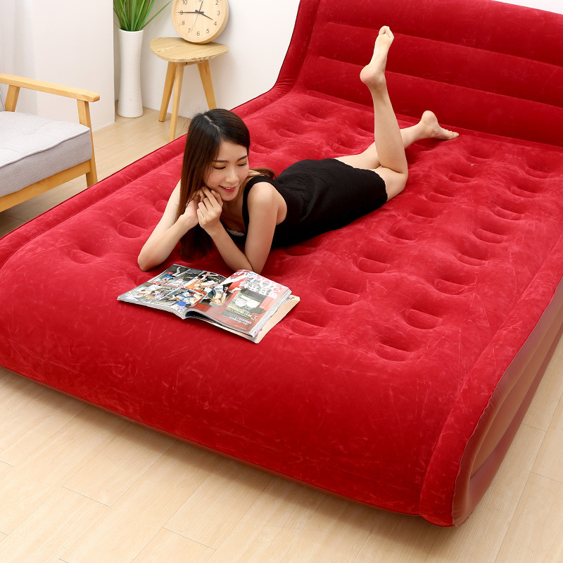 New Inflatable Bed Home Double Air Bed Air Mattress Thickened Portable Air Bed Outdoor Lazy Air Bed Mat