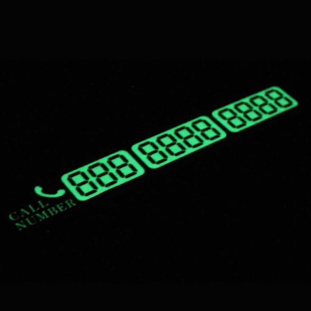 2020 nueva tarjeta de aparcamiento luminosa, coche, creativa, tarjeta de número de teléfono móvil temporal, Mensaje de tarjeta de número de teléfono móvil