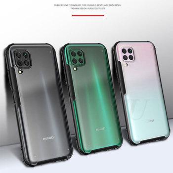 Перейти на Алиэкспресс и купить Чехол для Huawei P40 Lite, чехол P40 Pro, прозрачный матовый ПК, Матовый Жесткий чехол для телефона Huawei P40 Lite Pro P40Lite Nova 7i