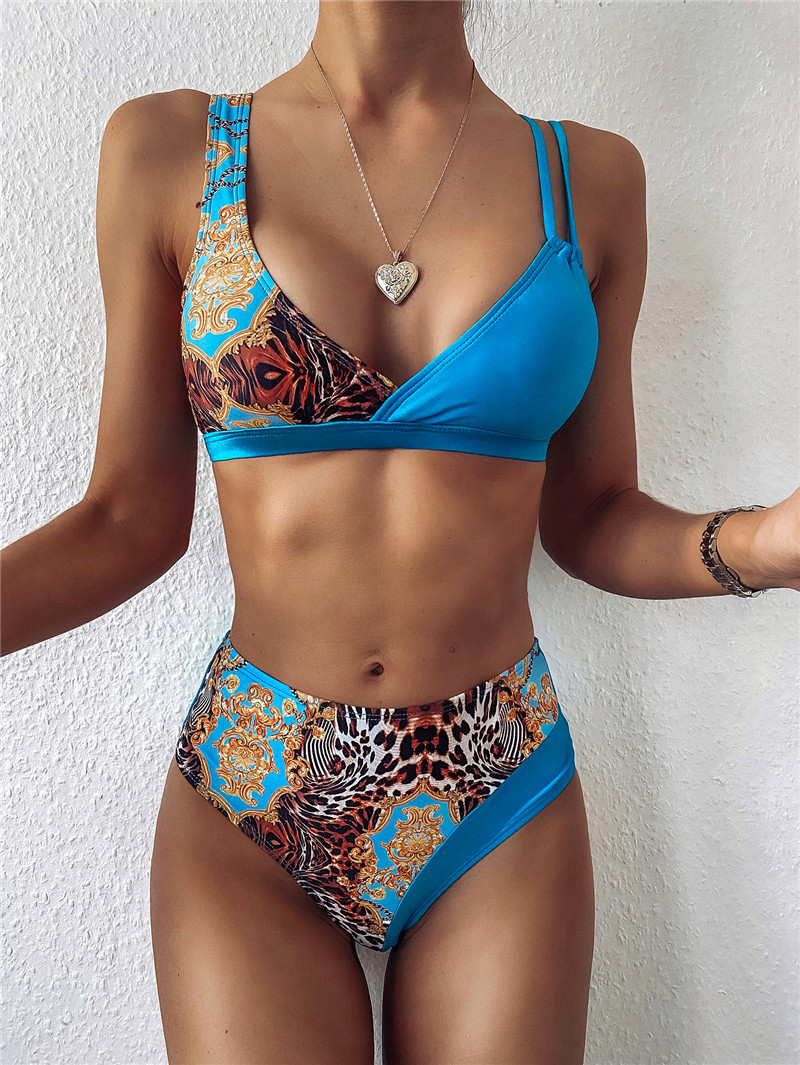 Women Dragon Printed Push Up Padded Bikini Sets Lady Summer Beach Sexy V Neck High Waist Swimsuit Swimwear Bathing Suit| |   - AliExpress