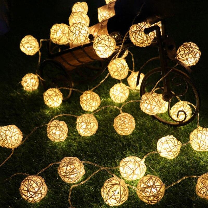 Outdoor Solar 4.8m 20led Sepak Takraw Light String Solar Power Waterproof Festival Garden Decorative Landscape Solar Light