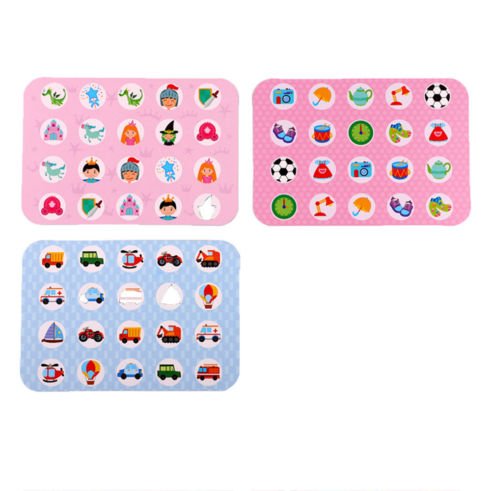 Puzzles Games Memory game chess toy Wooden Children Desktop Interactive Box Educational Toys Gift For Kids 1 3 year blue pink in Puzzles from Toys Hobbies