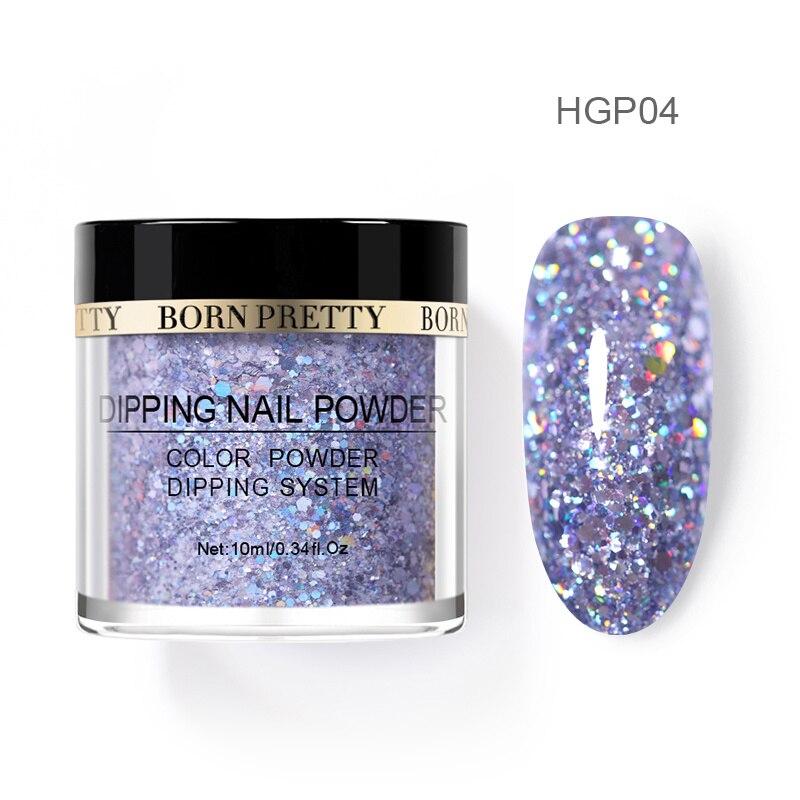 Born pretty, голографическая погружение порошки для ногтей градиент окунания блеск украшения длительным, чем УФ гель натуральный сухой без лампы лечения - Цвет: BP-HGP04