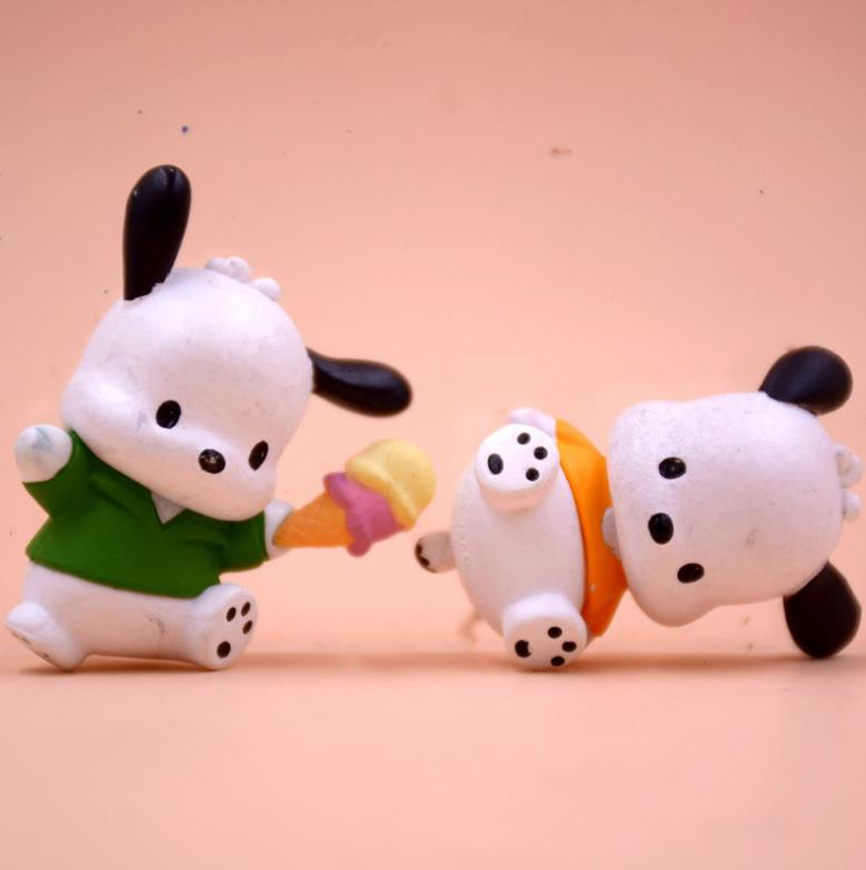 5 Pcs/set Cute Pc Dog Little White Dog Model Action Figure Toys Baby DIY Cake Decoration Doll Gifts for Girls Accessories-2