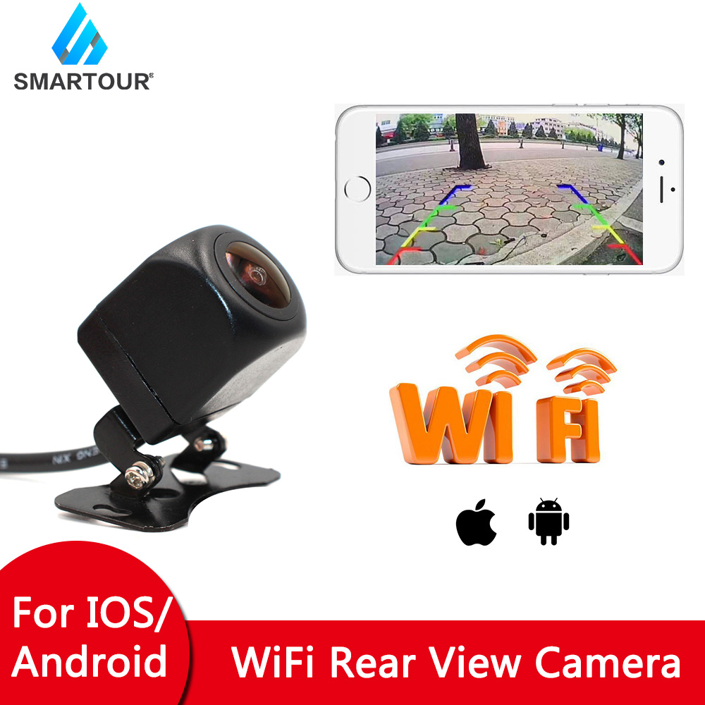 Smartour Wireless Car Rear View Camera WIFI auto Reversing Camera Vehicle Dash Cam  Vision for iPhone and Android Phone 1080P