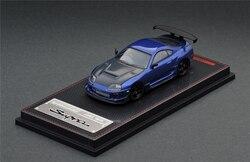 Модель зажигания IG 1: 64 Тойота Супра (JZA80) RZ металлическая синяя литая под давлением модель автомобиля