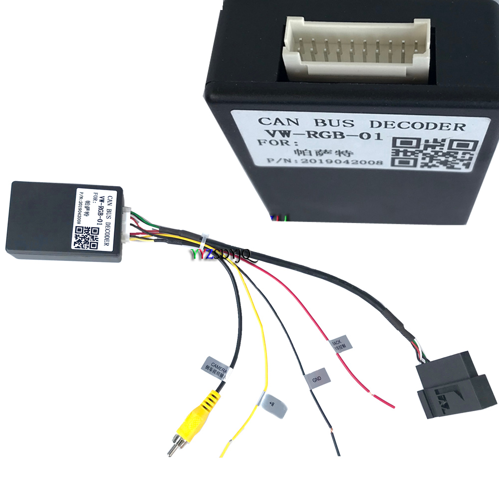 Конвертер сигнала RGB в CVBS (RCA) AV для заводского оригинального заднего вида для VW Passat OEM Android DVD