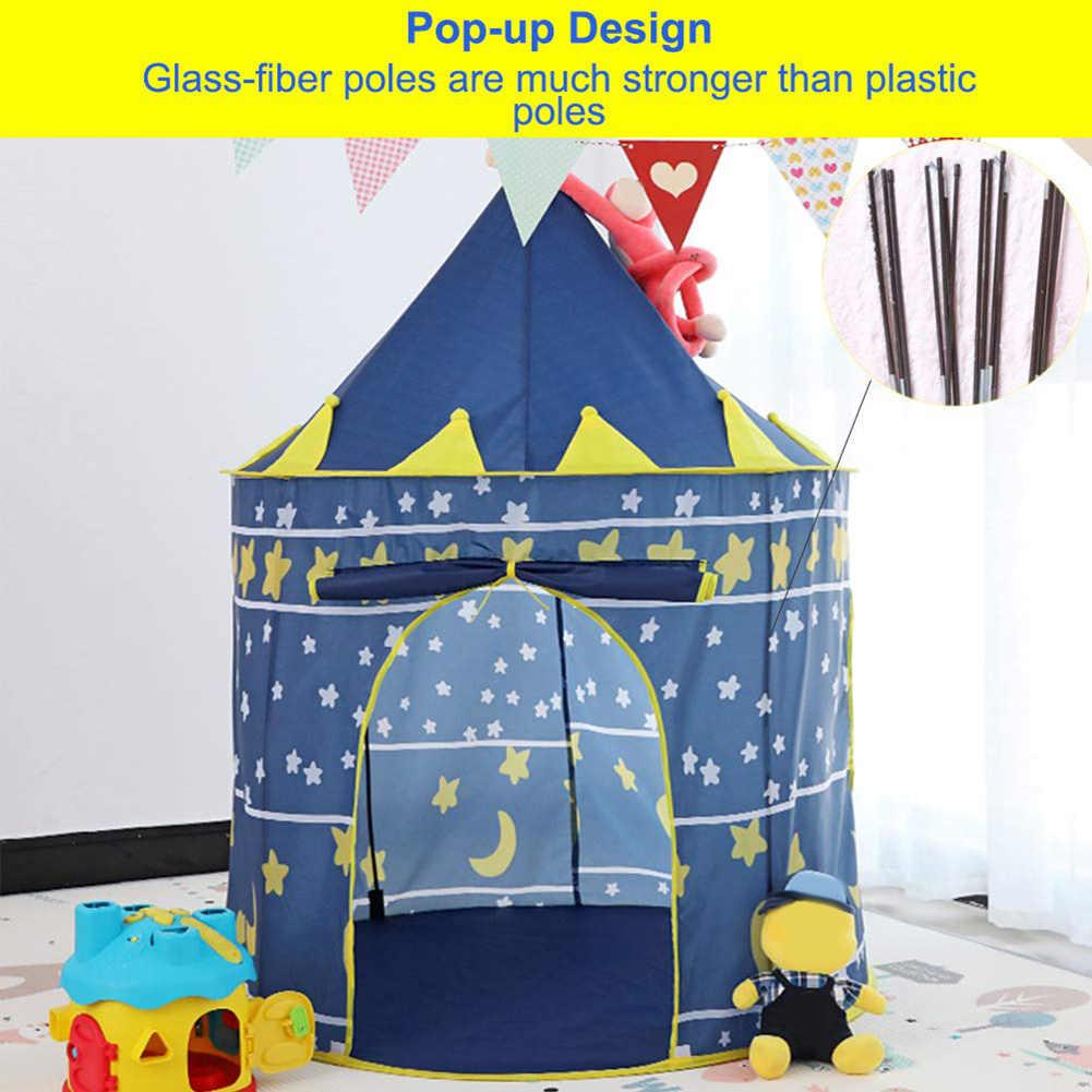 Plegable, portátil, Castillo de princesa, tul, juego para niños, tienda de juegos creativa, desarrollo al aire libre, Castillo de yurta, juguete de teatro