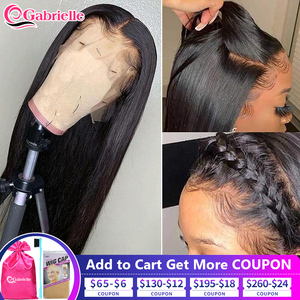 Gabrielle 30 Inch 13x4 Lace Front Wigs Human Hair Brazilian Straight Remy 13x6 Lace Frontal Wigs Glueless Cheap Human Hair Wigs