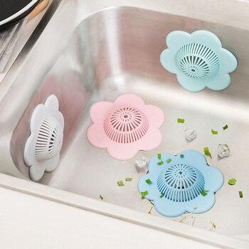 Sink Filter Pad Silicone Filter Kitchen Sink Drain Cover Bathroom Sink Anti Blocking kitchen sink strainer kitchen appliances sink grid