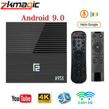 Caja de tv Android A95XF2 Amlogic S905X2 4GB 64GB 4K Smart caja de 2,4G y 5G Dual WIFI Bluetooth 4,2 USB3.0 Media Player Google Play Store(China)