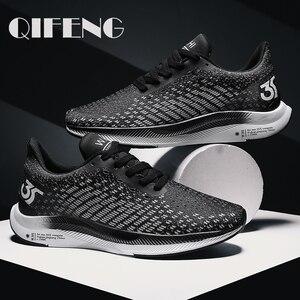 Image 1 - 2020 الصيف بيع الرجال شبكة أحذية الانزلاق على أحذية رياضية حذاء كاجوال وسادة هوائية الذكور الأحذية أحذية رياضية في الهواء الطلق الركض المدربين 46