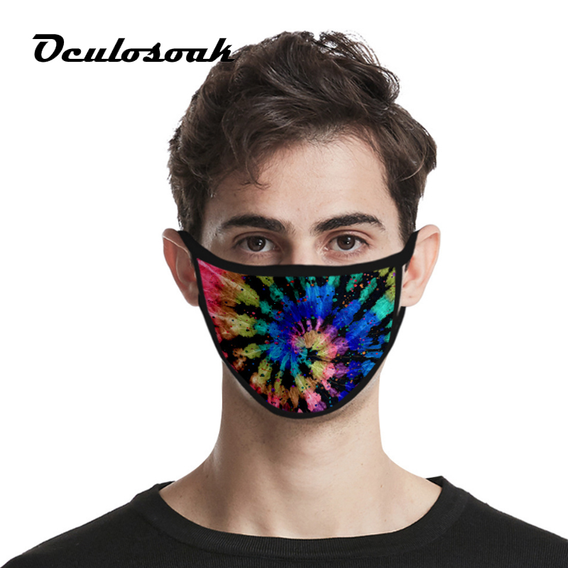 New Tie-dye 3d Fashion Dustproof Fashion Printing Ice Silk Fabric Can Be Washed Tide