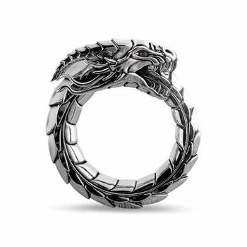 Creative New Fashion Personality Dragon Ring Retro Domineering Ring Men and Women Ring Party Dating Gifts Men and Women Ring 1