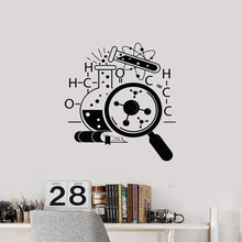 School Decorative Vinyl Wall Decal Science Laboratory Chemistry Scientist Waterproof Mural  LW464